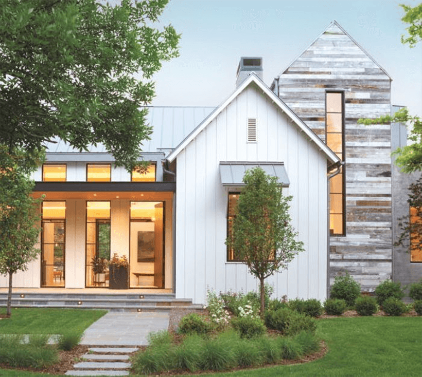 Exterior View of Modern Farmhouse