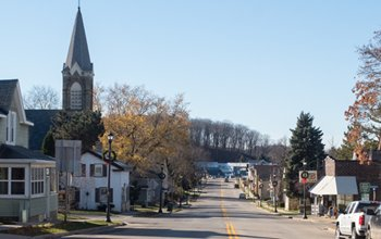 View of Downtown Slinger, WI